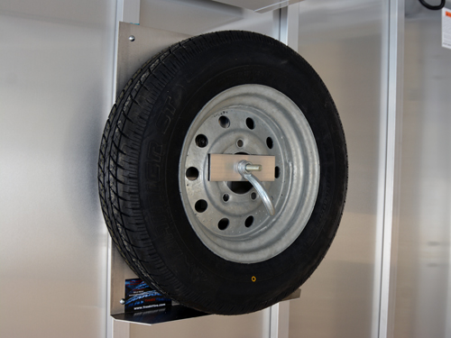 Spare Tire Carrier Holder Mount Wheel Bracket Rack for 802 Cargo Utility Enclosed Race Trailer,Mount Your Spare Tire Directly to The Wall of Your Trailer Fasten Tire 2 pcs