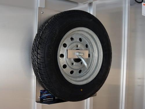 Utility Cargo Trailer Enclosed Spare Tire Carrier Holder Mount Wheel Bracket