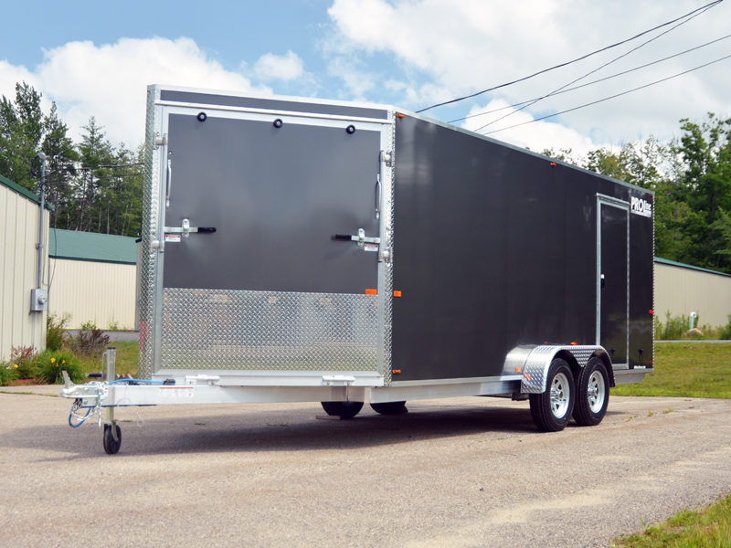 inline 3 place sled trailer