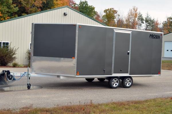 deckover 3 place snowmobile trailer