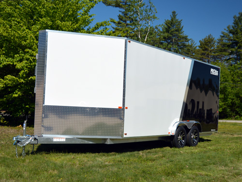 7.5' wide 3 place trailer