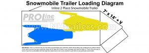 2 place snowmobile trailer loading diagram